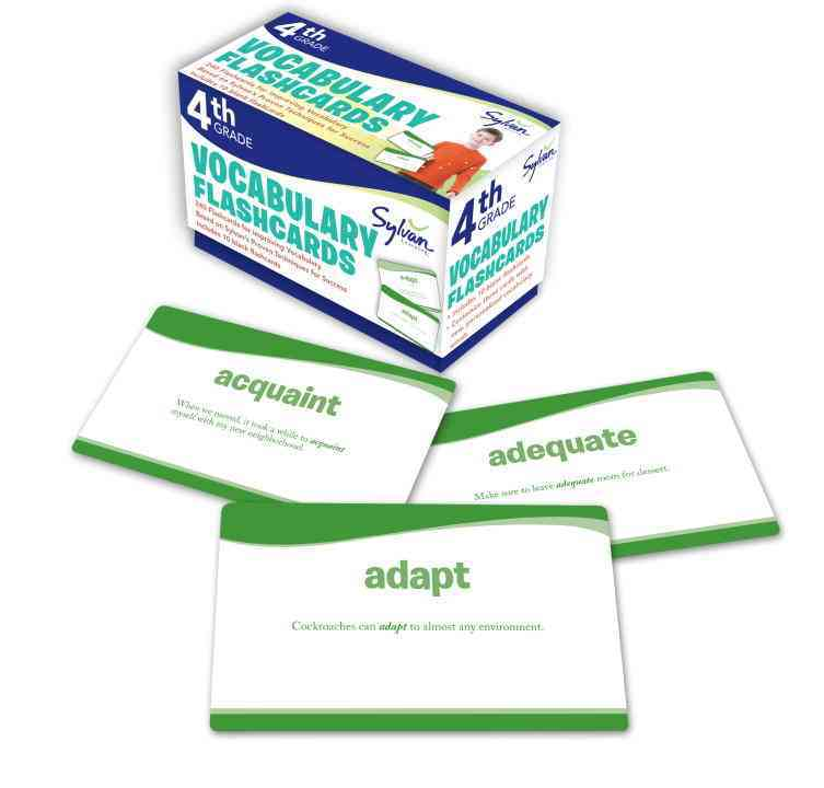 Fourth Grade Vocabulary Flashcards By Sylvan Learning (COR)